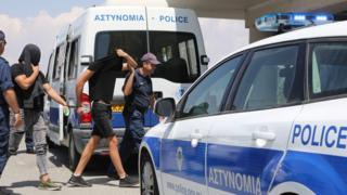 Twelve male Israeli tourists appear before Famagusta District Court in Paralimni, Cyprus