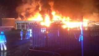 Investigators are still looking into whether a school fire in Cwmbran in January was started deliberately