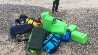 Bags found on the beaches