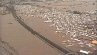 North Wales coastal flooding in 1990