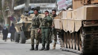 جنود أتراك في عفرين