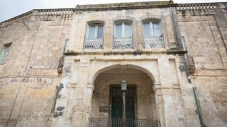 The exterior of Villa Guardamangia is seen on November 26, 2015 in Valletta, Malta.