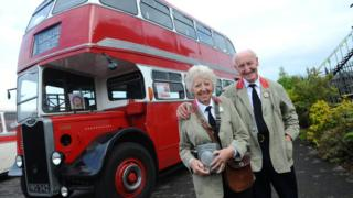Ken and Shirley Morgan with their restored bus