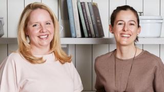 Food52 co-founder, Merrill Stubbs, left, and Amanda Hesser