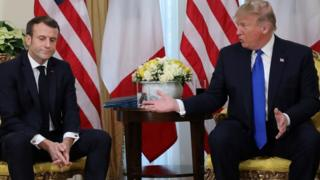 法国总统马克龙和美国总统特朗普