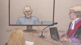 Court sketch of Barry Bennell