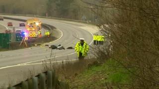 Police on scene of crash