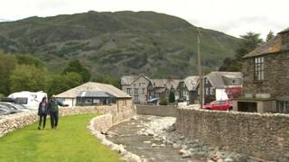 Flood prevention work at Glenridding