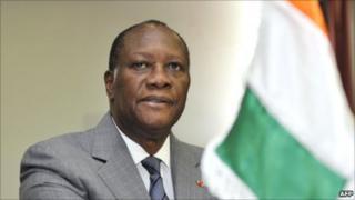 Rais wa Ivory Coast Alassane Ouattara