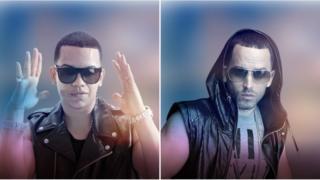 Los cantantes de reguetón J. Alvarez y Yandel usan la aplicación