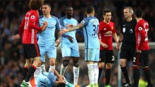 Ciyaartii dhexmartay kooxaha Manchester United iyo Manchester City