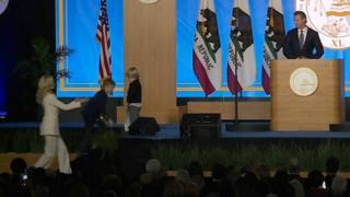 Губернатор Калифорнии Гэвин Ньюсом с семьей