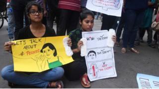 Hijyenik pedleri kampanyası protestosu
