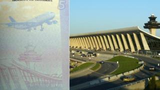 Composite image showing Dulles Airport and the new Taiwanese passport
