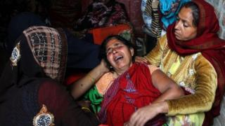 Mourning Indians after Kashir attack February 2019