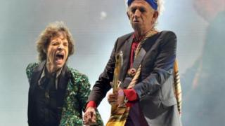 Sir Mick Jagger and Keith Richards at Glastonbury