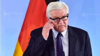 This file photo taken on June 01, 2016 shows German Foreign Minister Frank-Walter Steinmeier addressing a press conference on June 1, 2016 in Berlin.