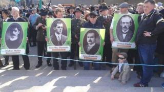 The Lost Leaders march commemorated the Irish rebel leaders who were executed days after the failed rebellion in Dublin