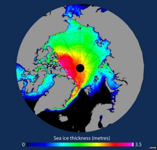 Arctic sea ice thickness