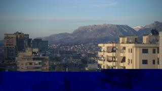 A panoramic view of a city in Albania