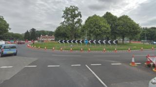 The Pwll-y-Pant roundabout
