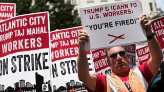 Manifestacion contra Trump