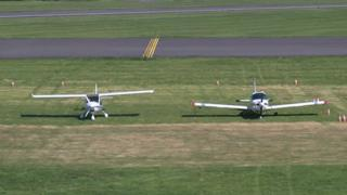 Gliders at Solent Airfield
