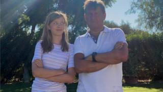 John Cushing and daughter Georgie