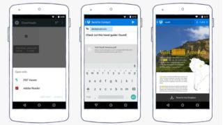 Dropbox displayed on smartphones
