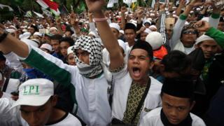 Demonstran di Jakarta