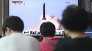 شمالی کوریا کا میزائل تجربہ