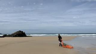 Tracey Williams na praia
