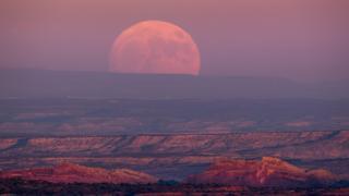 Superluna desde Utah, EE.UU.