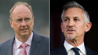 Left to right: Jonathan Agnew and Gary Lineker