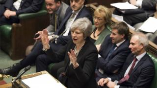 Theresa May addresses Parliament