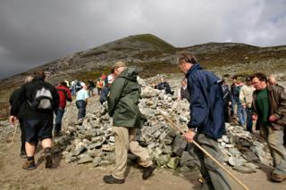Reek Sunday, Croagh Patrick pilgrimage, Co Mayo, Ireland