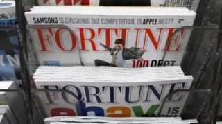 นิตยสารฟอร์จูนบนแผงหนังสือ