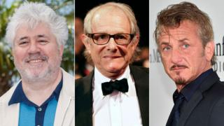 Pedro Almodovar, Ken Loach and Sean Penn
