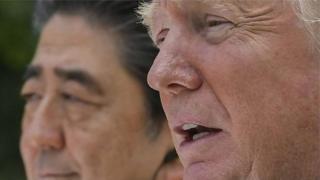 Trump ayaa Japan kala hadlay kulanka isbuuca soo socda uu la yeelanayo Kim Jong-un