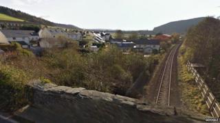 Railway line at Bow Street