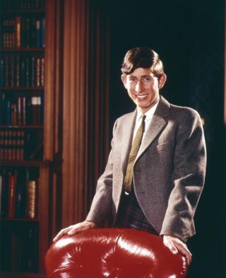Retrato de Charles em um escritório