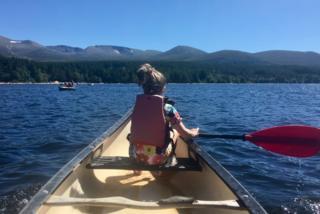 Canoeing Loch Morlich