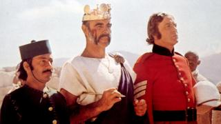 Saeed Jaffrey, Sean Connery and Michael Caine in The Man Who Would Be King