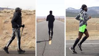 Hellah Sidibe running across USA