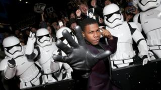 "Actor John Boyega attends the World Premiere of Â""Star Wars: The Force Awakens"