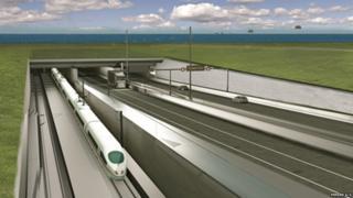 Artist's impression of Fehmarn road-rail tunnel (pic: Femern A/S)