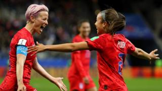 Mallory-Pugh-of-the-USA-celebrates-with-teammate-Megan-Rapinoe.