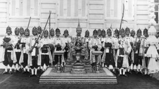 พระราชพิธีบรมราชาภิเษกพระบาทสมเด็จพระปกเกล้าเจ้าอยู่หัว รัชกาลที่ 7 เมื่อวันที่ 25 กุมภาพันธ์ พ.ศ. 2469