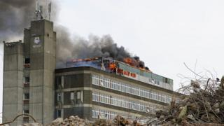 Fire at Jordanhill College
