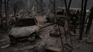 Después del incendio de Oberchain en Oregon